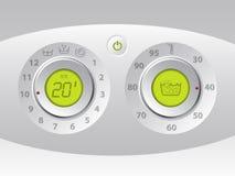 Χειρωνακτικός και ψηφιακός πίνακας ελέγχου μηχανών πλυσίματος ελεύθερη απεικόνιση δικαιώματος