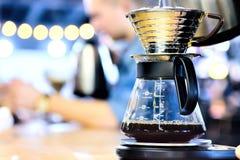 Χειρωνακτικός κατασκευαστής καφέ γυαλιού Στοκ Εικόνα