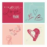 Χειρόγραφη απεικόνιση Amor αγάπης Amore Στοκ Φωτογραφίες
