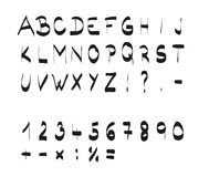 Χειρόγραφη καλλιγραφική μαύρη πηγή αλφάβητου Στοκ φωτογραφίες με δικαίωμα ελεύθερης χρήσης