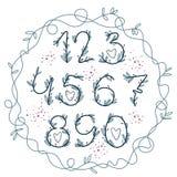 Χειρόγραφοι αριθμοί άνθισης στοκ εικόνες με δικαίωμα ελεύθερης χρήσης