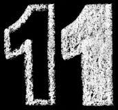 Χειρόγραφος άσπρος αραβικός αριθμός 1 κιμωλίας διανυσματική απεικόνιση