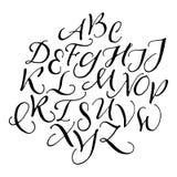 Χειρόγραφο καλλιγραφικό αλφάβητο Στοκ φωτογραφία με δικαίωμα ελεύθερης χρήσης