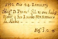 χειρόγραφο παλαιό Στοκ φωτογραφία με δικαίωμα ελεύθερης χρήσης