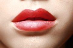 χειλικός κόκκινος αισθησιακός Στοκ εικόνα με δικαίωμα ελεύθερης χρήσης