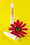 Χειλικό βάλσαμο και λουλούδι μεταξιού Στοκ εικόνες με δικαίωμα ελεύθερης χρήσης