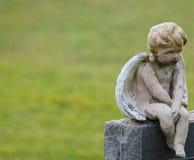 Χερουβείμ στην πέτρα στο δικαίωμα της εικόνας Στοκ Φωτογραφίες