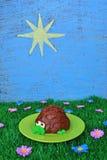 Χελώνα Cupcake με το θερινό θέμα Στοκ εικόνα με δικαίωμα ελεύθερης χρήσης