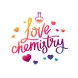 Χημεία αγάπης Η καλλιγραφία τάσης Στοκ εικόνες με δικαίωμα ελεύθερης χρήσης