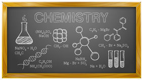 Χημεία, επιστήμη, χημικά στοιχεία, πίνακας διανυσματική απεικόνιση