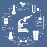 Χημεία επιστημονική, στοιχεία εκπαίδευσης απεικόνιση αποθεμάτων
