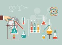Χημεία δημογραφική διανυσματική απεικόνιση