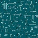 Χημεία, η βιολογία Επιστημονικά, στοιχεία εκπαίδευσης ελεύθερη απεικόνιση δικαιώματος