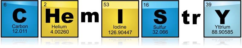Χημεία με τα στοιχεία απεικόνιση αποθεμάτων