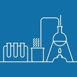 Χημεία με τον εξοπλισμό δοκιμής και έρευνας εργαστηρίων απεικόνιση αποθεμάτων
