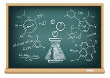Χημεία πινάκων Στοκ φωτογραφία με δικαίωμα ελεύθερης χρήσης