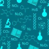 Χημεία πρότυπο άνευ ραφής απόθεμα απεικόνισης κατασκευής κάτω από το διάνυσμα Στοκ φωτογραφίες με δικαίωμα ελεύθερης χρήσης