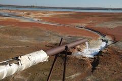 χημικά απόβλητα διάθεσης Στοκ Φωτογραφίες