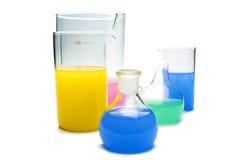 χημικά γυαλικά διαφανή Στοκ Φωτογραφία