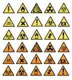 χημικά σημάδια κινδύνου Στοκ Εικόνες