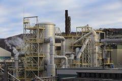 Χημικές δομές εργοστασίων Στοκ Εικόνα