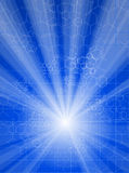 χημικές ελαφριές ακτίνες & Στοκ εικόνες με δικαίωμα ελεύθερης χρήσης