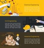 Χημική, αστική, ndustrial εκπαίδευση εφαρμοσμένης μηχανικής infographic Στοκ εικόνα με δικαίωμα ελεύθερης χρήσης