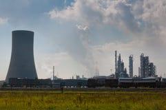 χημική βιομηχανία της Αμβέρ&sig Στοκ Φωτογραφίες