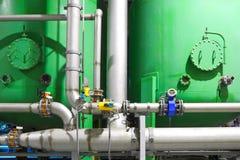 Χημική επιχείρηση εργοστασίων Στοκ εικόνα με δικαίωμα ελεύθερης χρήσης