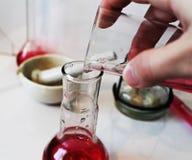 Χημική εργαστηριακή φωτογραφία Στοκ Φωτογραφίες