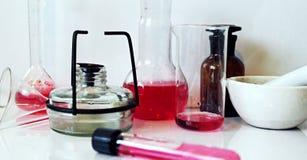 Χημική εργαστηριακή φωτογραφία Στοκ Εικόνα