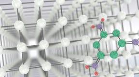 χημική διανυσματική ταπετσαρία μορίων χωρίς ραφή Στοκ εικόνες με δικαίωμα ελεύθερης χρήσης