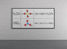 χημική δομή Στοκ Φωτογραφίες