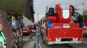 Χημική πυρκαγιά Στοκ φωτογραφίες με δικαίωμα ελεύθερης χρήσης