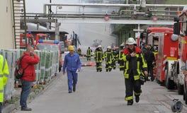 Χημική πυρκαγιά Στοκ φωτογραφία με δικαίωμα ελεύθερης χρήσης