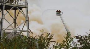 Χημική πυρκαγιά Στοκ εικόνες με δικαίωμα ελεύθερης χρήσης