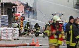 Χημική πυρκαγιά Στοκ Εικόνα