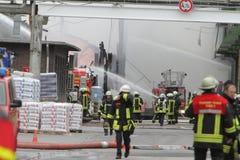 Χημική πυρκαγιά Στοκ Φωτογραφίες