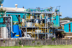 Χημική υποδομή εργοστασίων Στοκ Φωτογραφία
