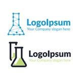 Χημική φιάλη λογότυπων δύο προτύπων Στοκ Εικόνα