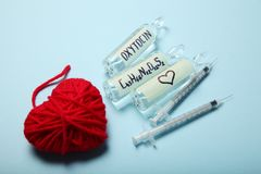 Χημική oxytocin ανακάλυψη Ανάλυση αγάπης, ορμόνη στοκ εικόνες