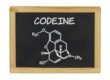 Χημικός τύπος της κωδεΐνης στοκ φωτογραφία με δικαίωμα ελεύθερης χρήσης