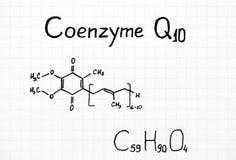 Χημικός τύπος coenzyme q10 στοκ εικόνα με δικαίωμα ελεύθερης χρήσης