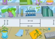 Χημικό εργαστήριο ελεύθερη απεικόνιση δικαιώματος