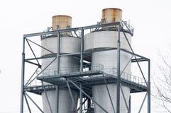 χημικό εργοστάσιο καπνοδόχων Στοκ Φωτογραφία