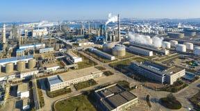Χημικό εργοστάσιο shandong Κίνα στοκ εικόνες