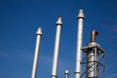 χημικό πετρέλαιο εργοστ&alp στοκ εικόνα