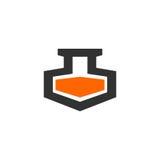 Χημικό πρότυπο λογότυπων εργαστηρίων Διανυσματική απεικόνιση