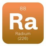 Χημικό στοιχείο ραδίου Στοκ φωτογραφία με δικαίωμα ελεύθερης χρήσης