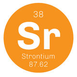 Χημικό στοιχείο στροντίου Απεικόνιση αποθεμάτων